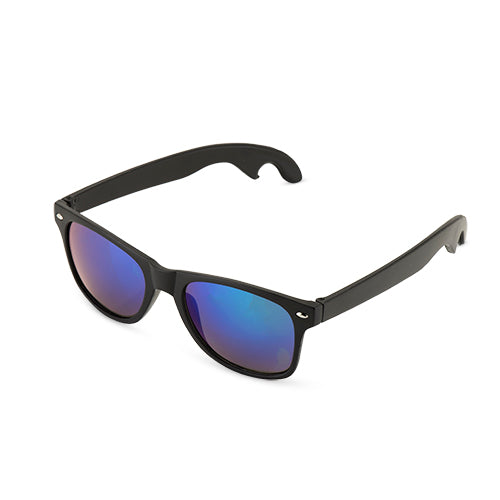 Matte Black with Olivine Lense Bottle Opener Sunglasses by F