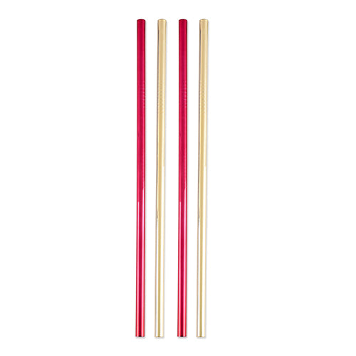 Rustic Holiday: Assorted Stainless Steel Cocktail Straws by