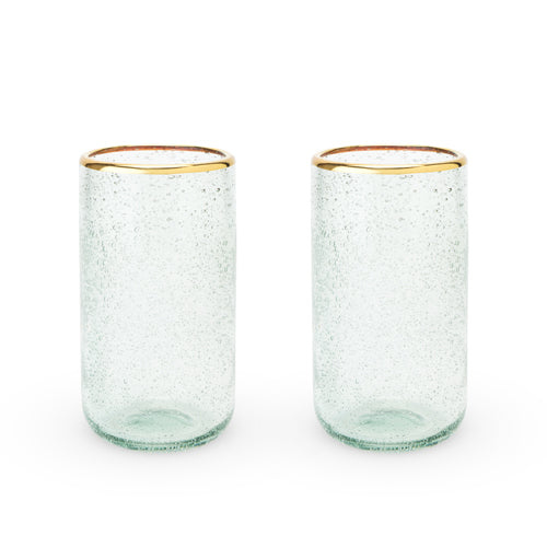 Seaside: Sea Foam Bubble Glass Tumbler Set by Twine