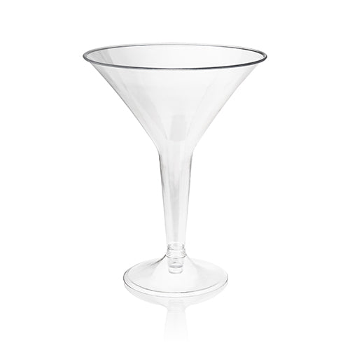 8oz Plastic Martini Glass Set - 12 pc