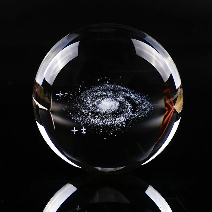 Laser Engraved Galaxy Crystal Ball