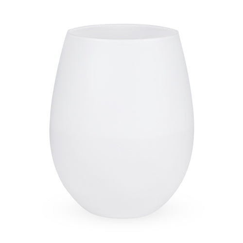 Stone: Powder White Stemless Wine Glass (Set of 2) by True