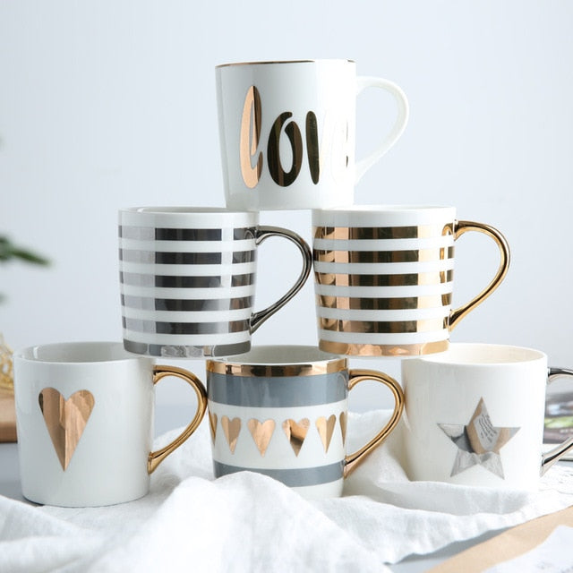 Modern Metallics Ceramic Mugs