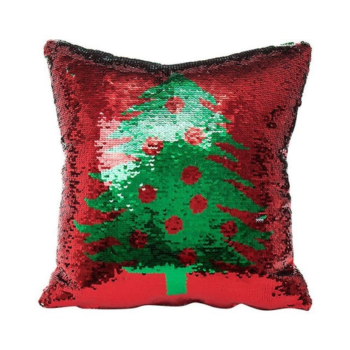 Reversible Sequin Christmas Pillow Cover