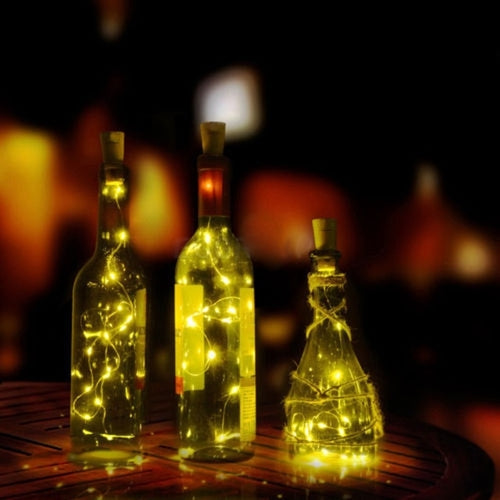 Cork Fairy Lights for Wine Bottles