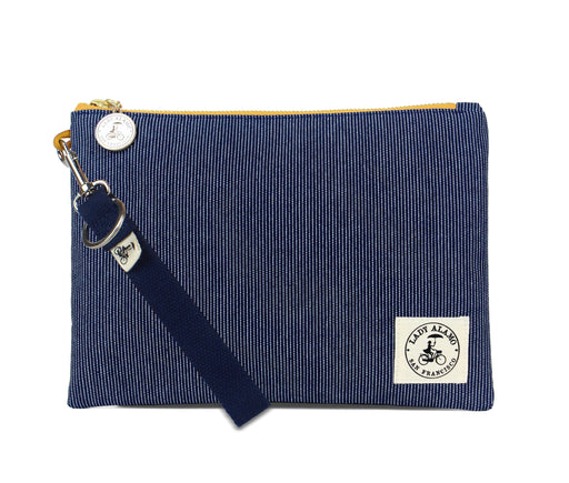 Miss Zip: Denim Stitch With Navy Key Ring
