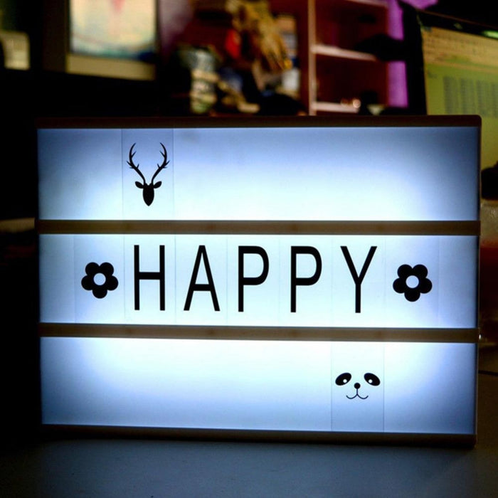 Light Box with Letters