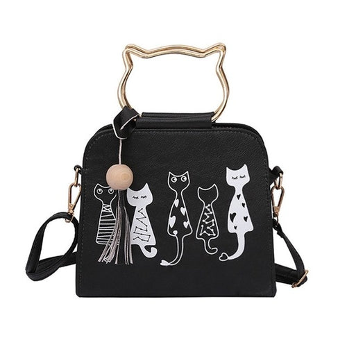 Cat Lovers Crossbody Handbag