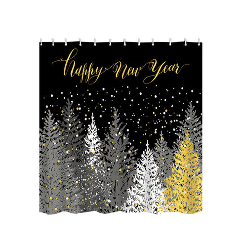 Eco-Friendly Festive Christmas Shower Curtains