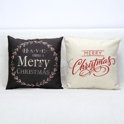 Vintage Christmas Pillow Cover