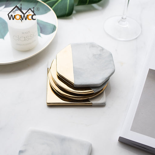 Marble and Gold Coaster