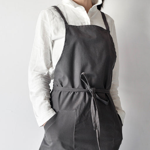 Unisex Soft Cotton Linen Basic Apron for Adults