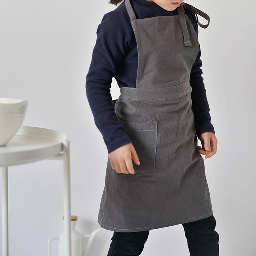 Unisex Soft Cotton Linen Basic Apron for Kids,