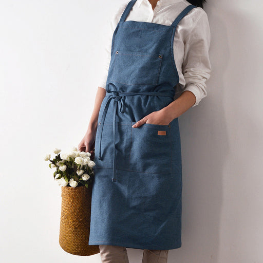 Karuilu Adjustable Durable All Cotton Denim Apron