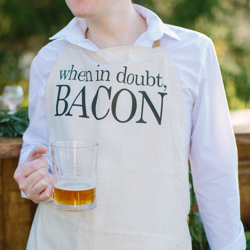 When In Doubt Bacon Men's Apron
