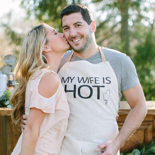 My Wife Is Hot Men's Apron