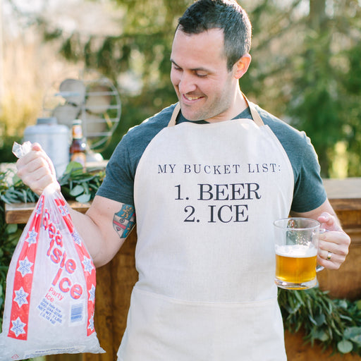 My Bucket List Men's Apron