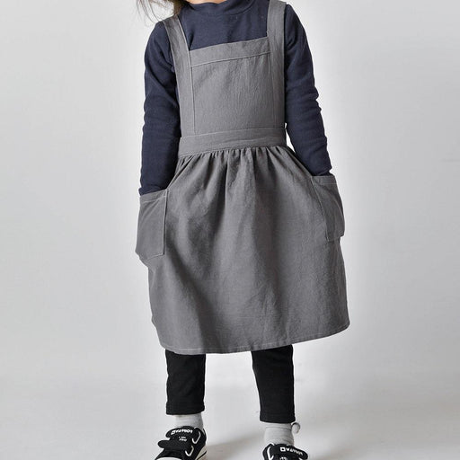 Adjustable Soft Cotton Linen Pinafore Apron