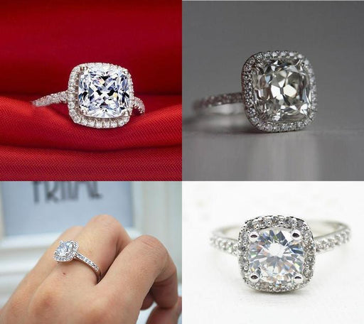 FREE White Gold Zirconia Crystal Ring