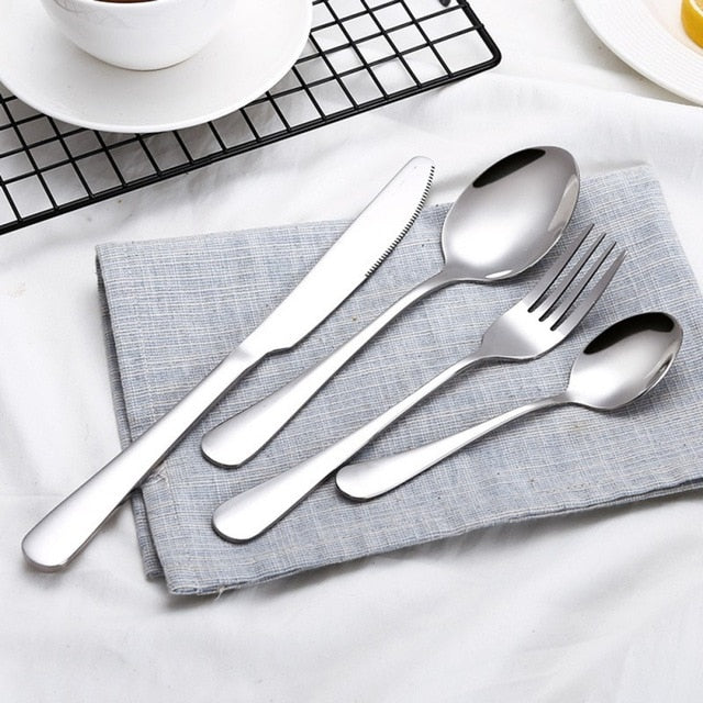Luxe Stainless Steel Cutlery Set - 4PCS/Set