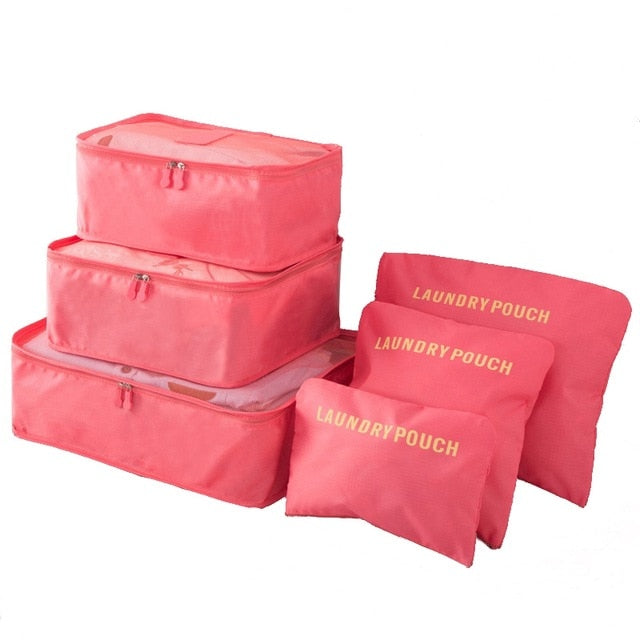 Travel Storage Bags For Luggage (6-pc Set)