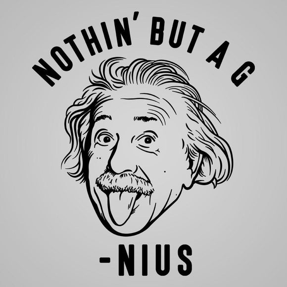 Einstein,nothing,but,genius,slim,fit,tee,shirt,t-shirt,tshirt,donkey,tees