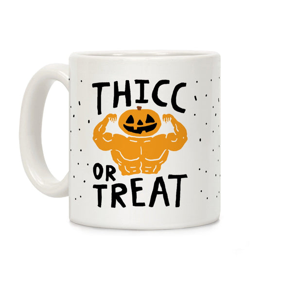 Halloween,coffee,mug,thicc,or,treat,cup,pumpkin