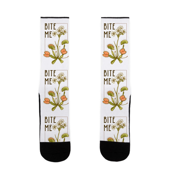 socks,gift,funny,bite me,Venus fly trap,lookhuman
