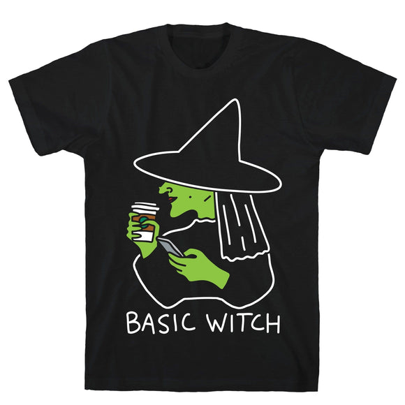 tee,shirt,Halloween,basic,witch,t-shirt