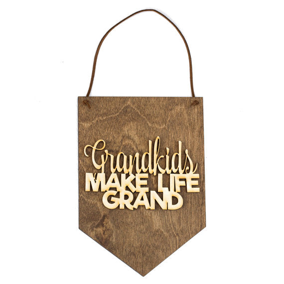 grandparents,grandpa,grandma,handmade,banner,sign,gift,woodwork,made in USA
