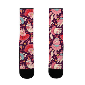 socks,gift,funny,kawaii,cats,princess,lookhuman,adult,unisex,pink