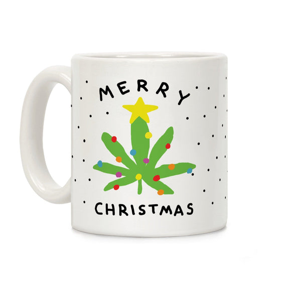 merry,christmas,coffee,mug,marijuana,leaf,ceramic,cup