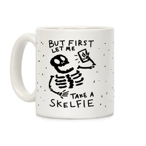 coffee,mug,gift,skeleton,Halloween,selfie,lookhuman