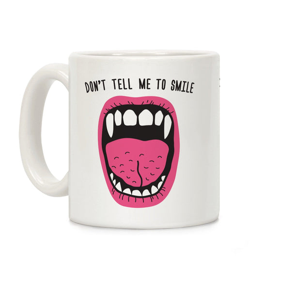 coffee,mug,gift,fangs,smile,vampire,Halloween,lookhuman