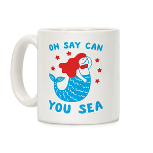 oh say can you sea,coffee,mug,cup,gift,lookhuman