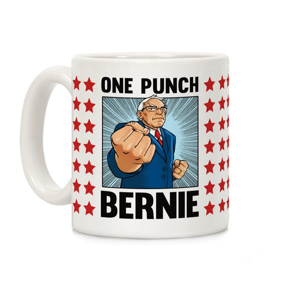 one,punch,bernie,sanders,coffee,mug,cup,ceramic
