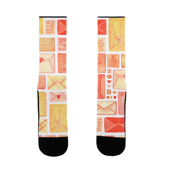 love,letter,pattern,socks