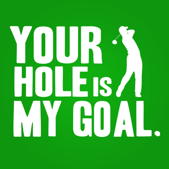 your,hole,my,goal,golf,tee,shirt,tshirt,t-shirt,unisex,premium,tri,blend,donkey,tees