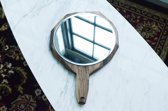 geometric,hand,mirror,wood,iron,roots,design,handmade