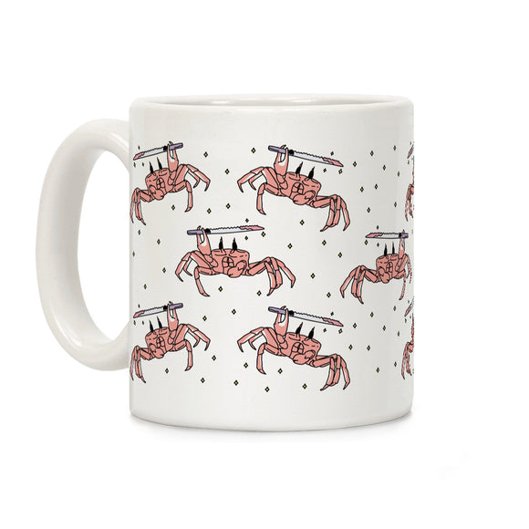 coffee,mug,crabo,crab,stabo,cup,pattern,knife