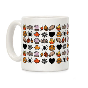 coffee,mug,gift,OMG,fall,emojis,Halloween,pumpkin,spider,lookhuman