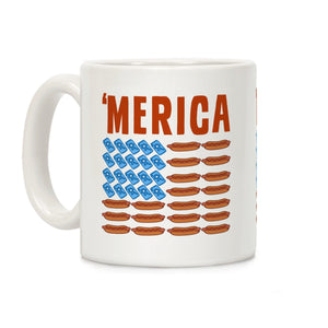 mug,coffee,republican,patriotic,beer,hot dogs,military,LEO,firefighter,second amendment,constitution,armed forces,flag,