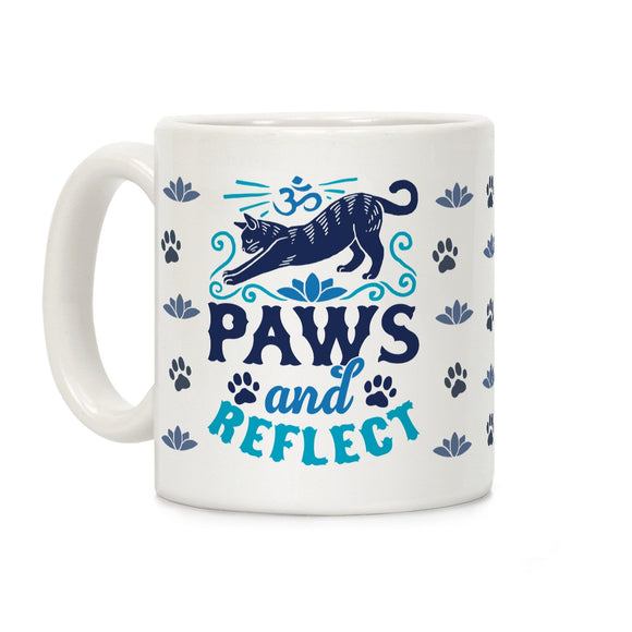paws,reflect,cat,ceramic,coffee,mug,cup