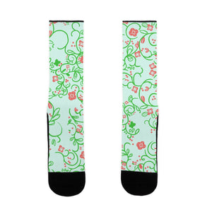 socks,gift,Spring,funny,flowers,made in USA,lookhuman