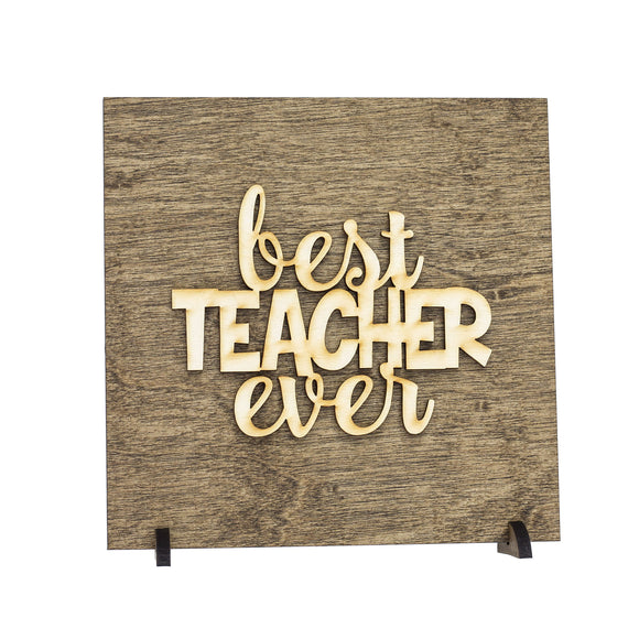 best teacher ever,sign,wood,home decor,handmade,woodwork
