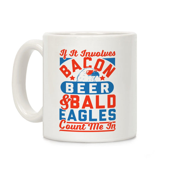 mug,coffee,republican,beer,bacon,conservative,military,eagle,firefighter,second amendment,constitution,armed forces,flag