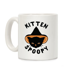 coffee,mug,gift,spoopy,kitten,cat,Halloween,lookhuman
