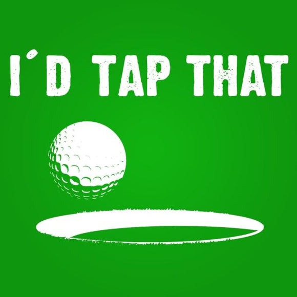 golf,tap,I'd,that,tee,shirt,t-shirt,tshirt,womens,slim,fit,donkey,tees
