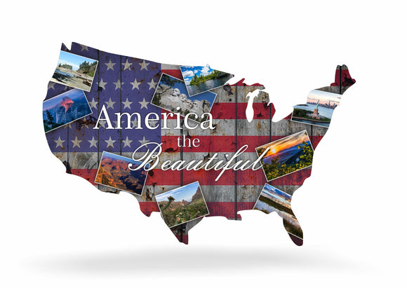 America The Beautiful Steel Imagery Metal Wall Decor