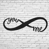 infinity,you,me,steel,wall,art,home decor,hanging,sign